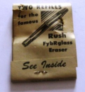 Glasfaserradierer, Packung Two Refills Rush Eraser